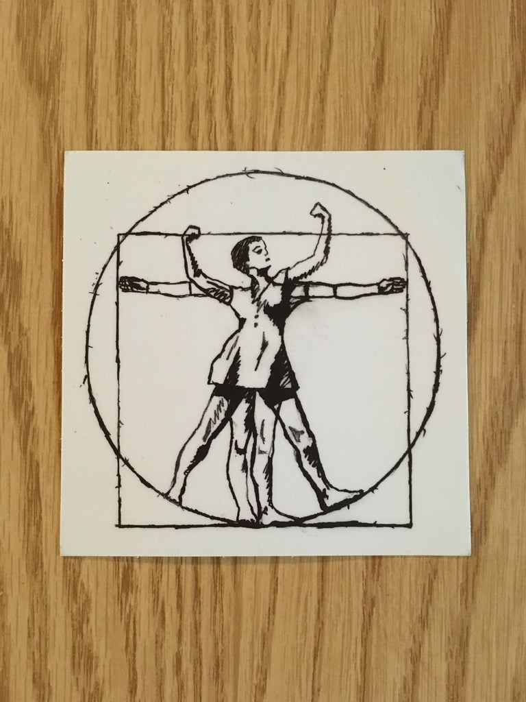 Vitruvian Babe Sticker