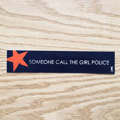 Girl Police Sticker