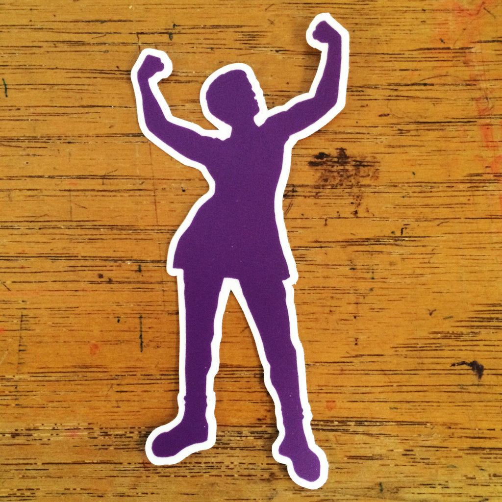 Diecut Babe Sticker - Purple