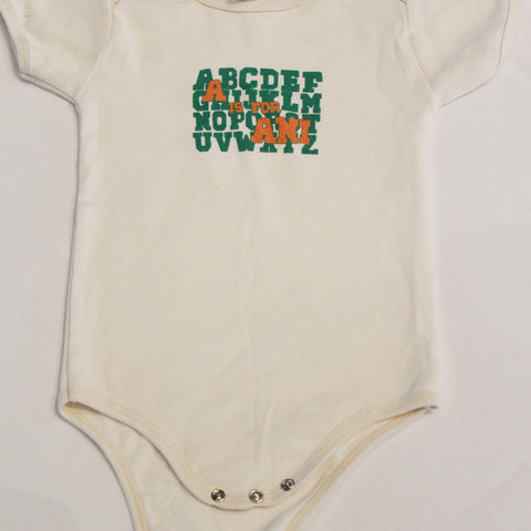 A is for Ani (Organic) Onesie