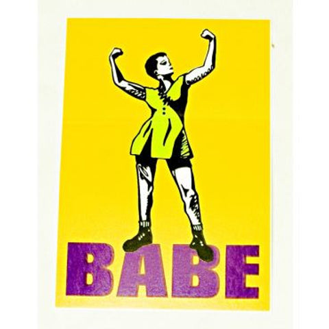 babe yellow sticker