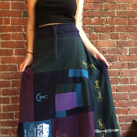 Jewel Toned Skirt S-M