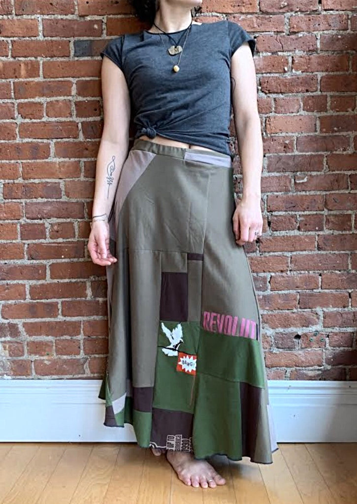 Earth Beneath My Feet Patchwork Skirt