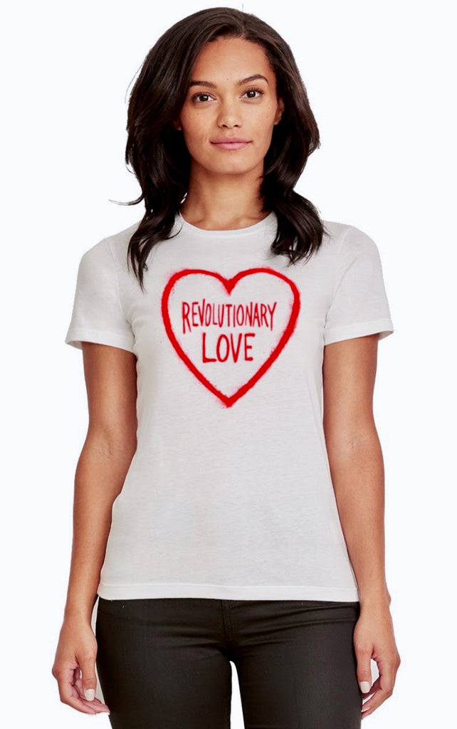 Graffiti Heart Women's Fitted T-shirt