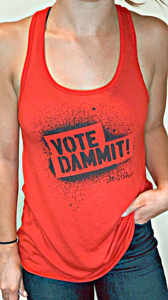 Vote Dammit! Ladies Tank