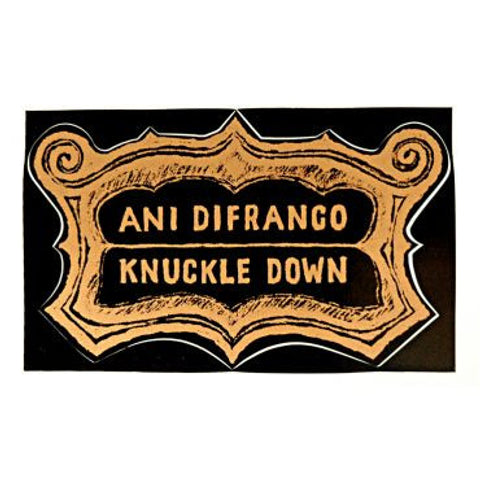 knuckle down sticker - black