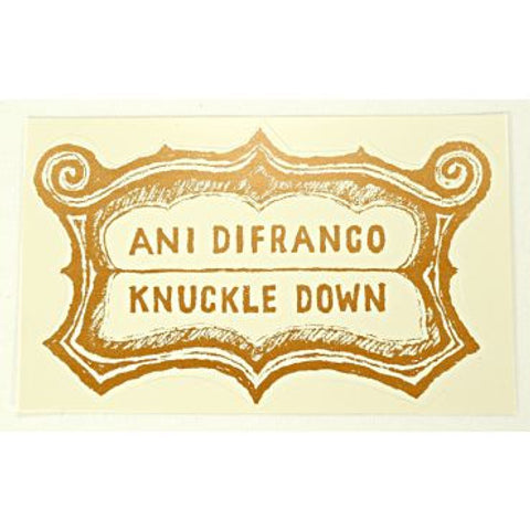 knuckle down sticker - white