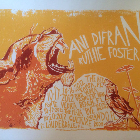 Panther Fall 2012 Tour Poster