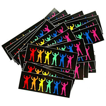 rainbow babes sticker - black