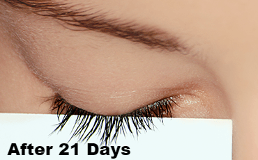After 21 Days results: REALASH Eyelash Enhancer