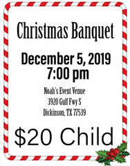 Christmas Banquet Ticket Child