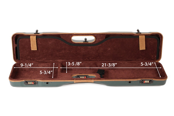 Negrini OU/SXS Deluxe Uplander Ultra-Compact Hunting Shotgun Case 16405LX/5493 - Sporting Classics Store