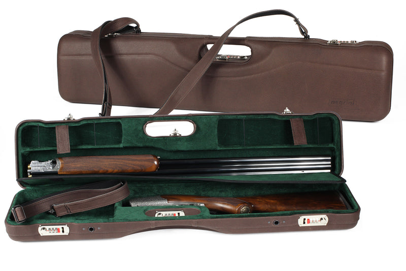 Negrini OU/SXS Luxury Uplander Ultra-Compact Hunting Shotgun Case 16405PL/5589 - Sporting Classics Store