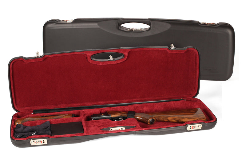 Negrini O/U Luxury Italian Leather Sporter Shotgun Case 1654PL/5390 - Sporting Classics Store