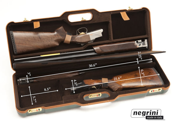 Negrini Two OU/SxS Deluxe Shotgun Hunting Skeet Travel Case 1670LX/4772 - Sporting Classics Store