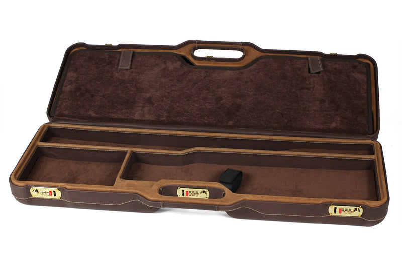 Negrini Two OU/SxS Superlative Italian Leather Shotgun Hunting Skeet Case 1670PPL/5055 - Sporting Classics Store