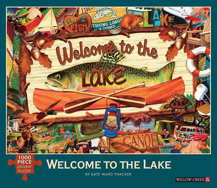 Welcome to the Lake 1000 Piece Jigsaw Puzzle    NEW!
