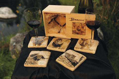 Italian Big Five Marble Coasters
