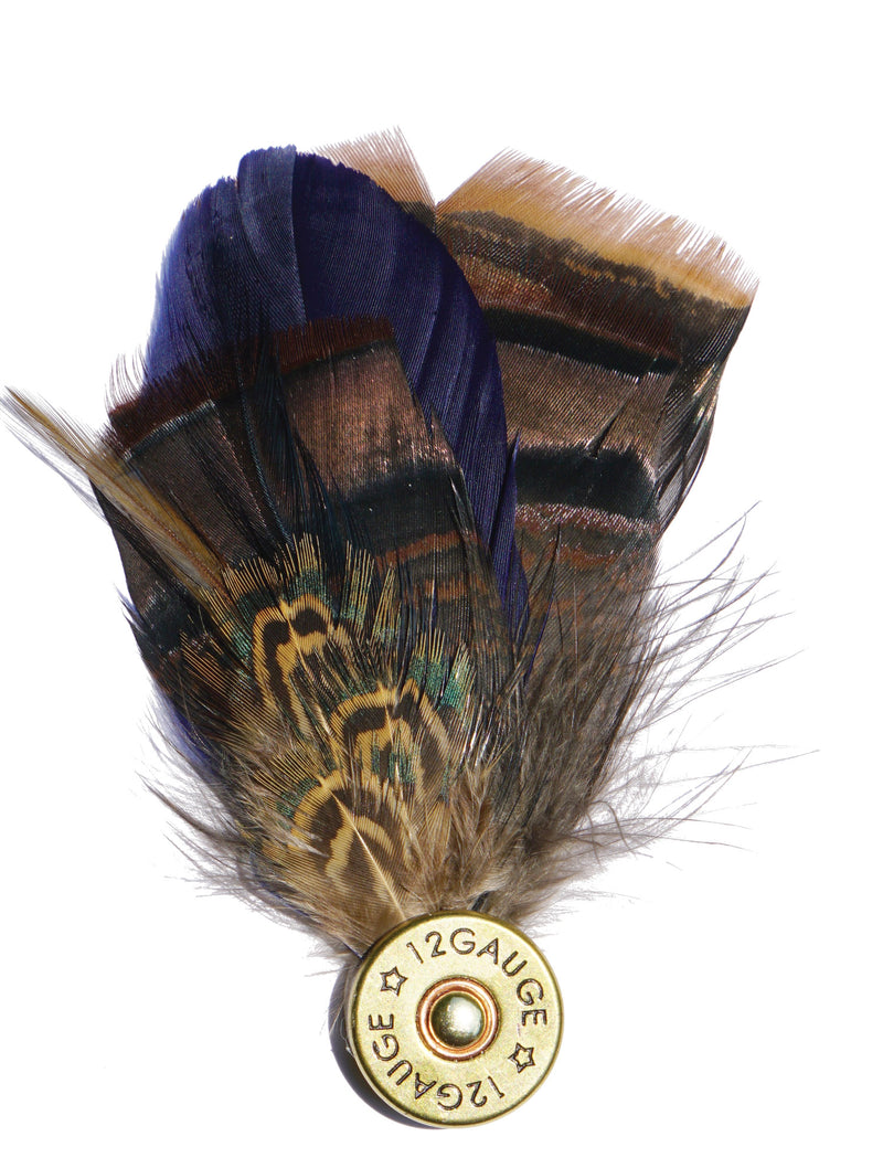 Shotgun Shell Feather Pin - Sporting Classics Store