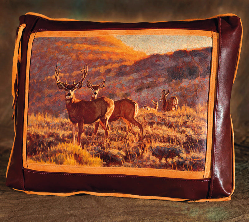 Banovich Designer Leather Pillow: Big Muley - Sporting Classics Store