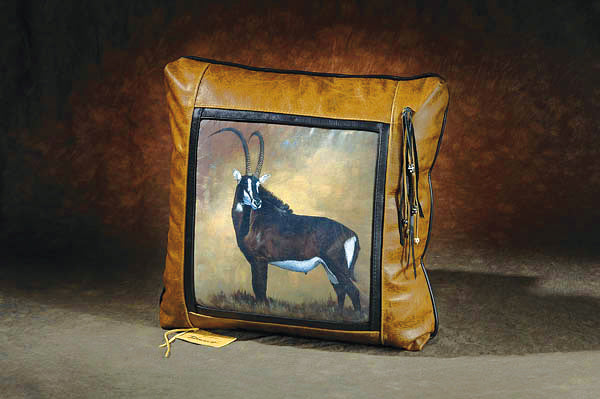 Banovich Designer Leather Pillow: Sable - Sporting Classics Store