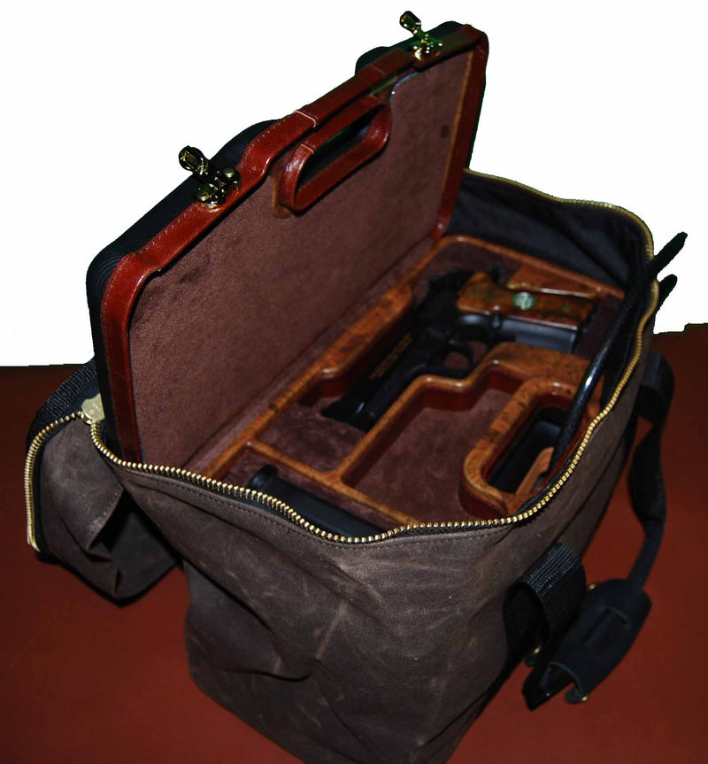 Wax Canvas Pistol & Ammo Case Vault - Sporting Classics Store