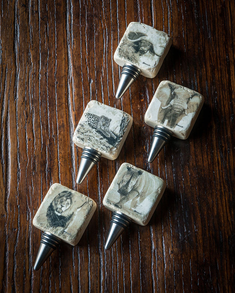Banovich Wine Stoppers The African Big Five Collection - Sporting Classics Store