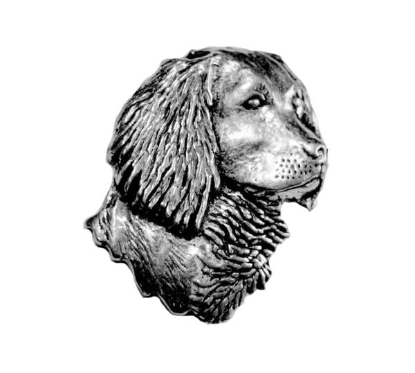 Spaniel Head Pewter Pin - Sporting Classics Store