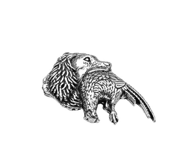 Spaniel/Pheasant Pewter Pin - Sporting Classics Store