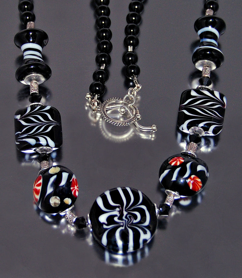 Handmade Tribal Tiles Glass Necklace - Sporting Classics Store