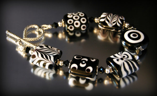 Tribal Tiles - Black and White Bracelet - Sporting Classics Store