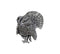 Turkey Pewter Pin - Sporting Classics Store