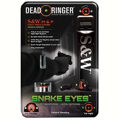 Dead Ringer Snake Eyes Combo Sight Smith & Wesson M&P, Green Front and Rear