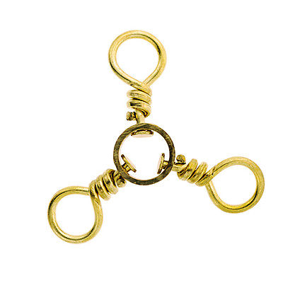 Eagle Claw 3-Way Swivel, Brass Size 4 (Per 12)