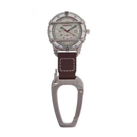 Dakota Phase III Clip Watch in Silver