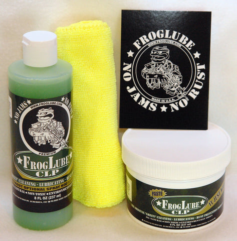FrogLube CLP Lubricant 8oz Paste & 8oz Liquid Bundle