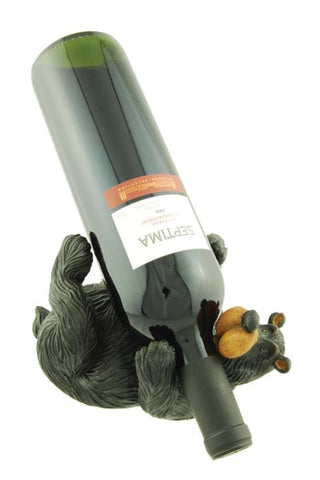 Black Bear Laying Down Wine Bottle Holder