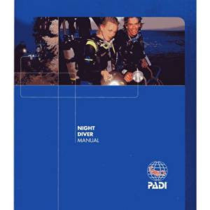 PADI Night Diver Manual - 2018 VERSION - Free Post