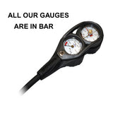 Apeks contents gauge and depth gauge with Flexi Narrow Hose