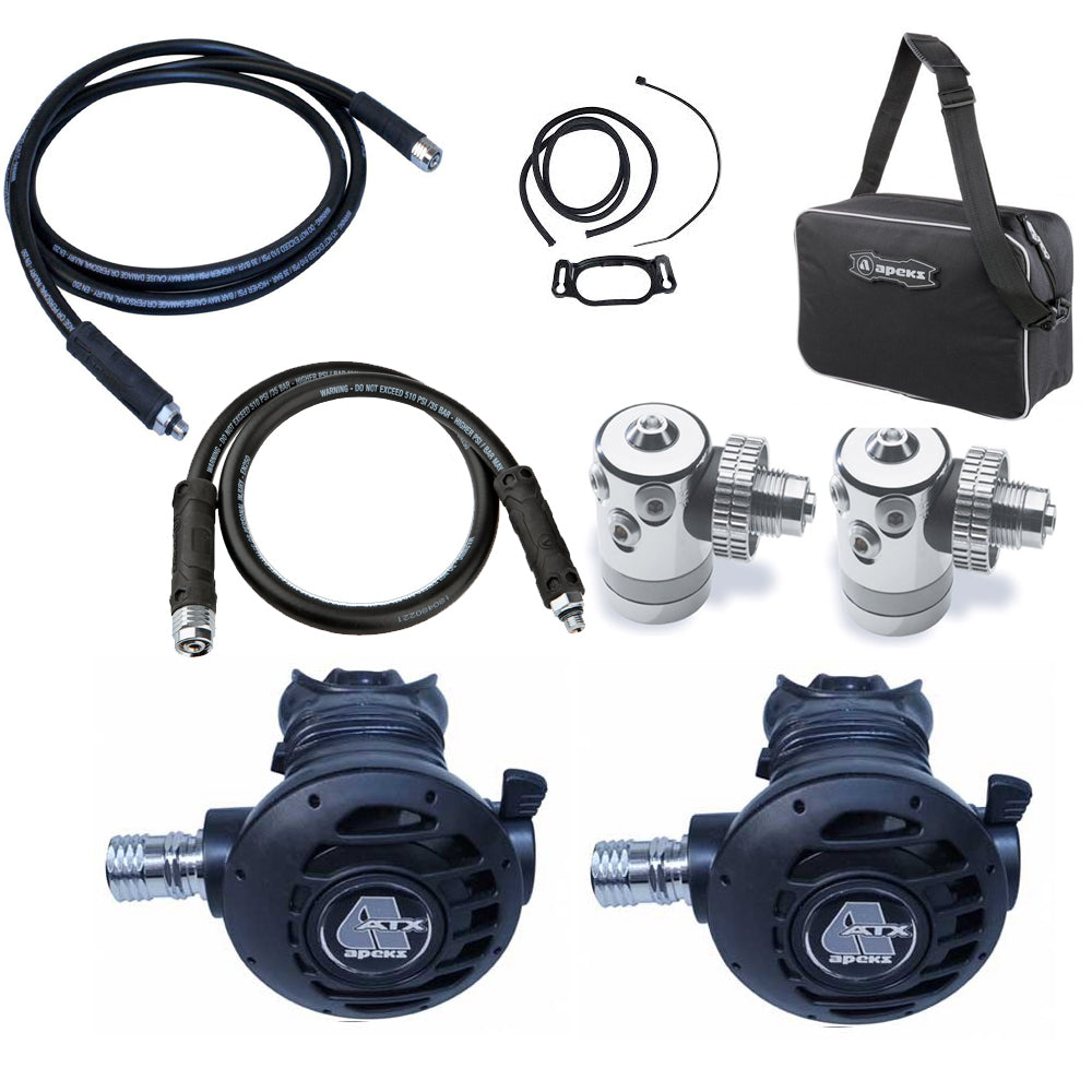 APEKS ATX TWINSET REGULATOR KIT - A 4TH ELEMENT EXCLUSIVE SET