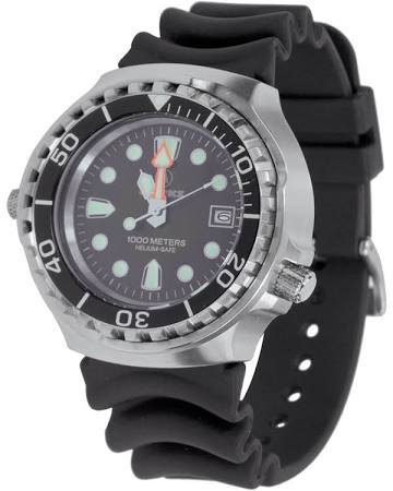 APEKS 1000M HELIUM VALVE DIVE WATCH IN PRESENTATION CASE