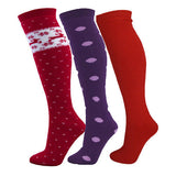 ADULTS Wool Mix Ski Tube Tubes Seamless SKI STRIPY Socks UK Size 4-11.5