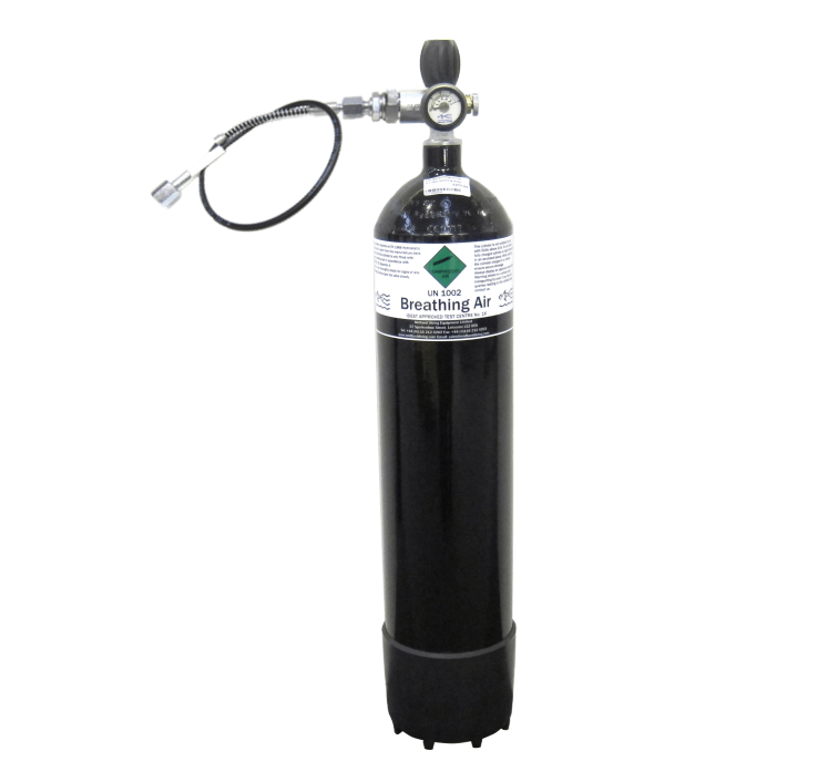 Air Gun Cylinder 7 Litre 300 bar  with Charging Adapter and Whip