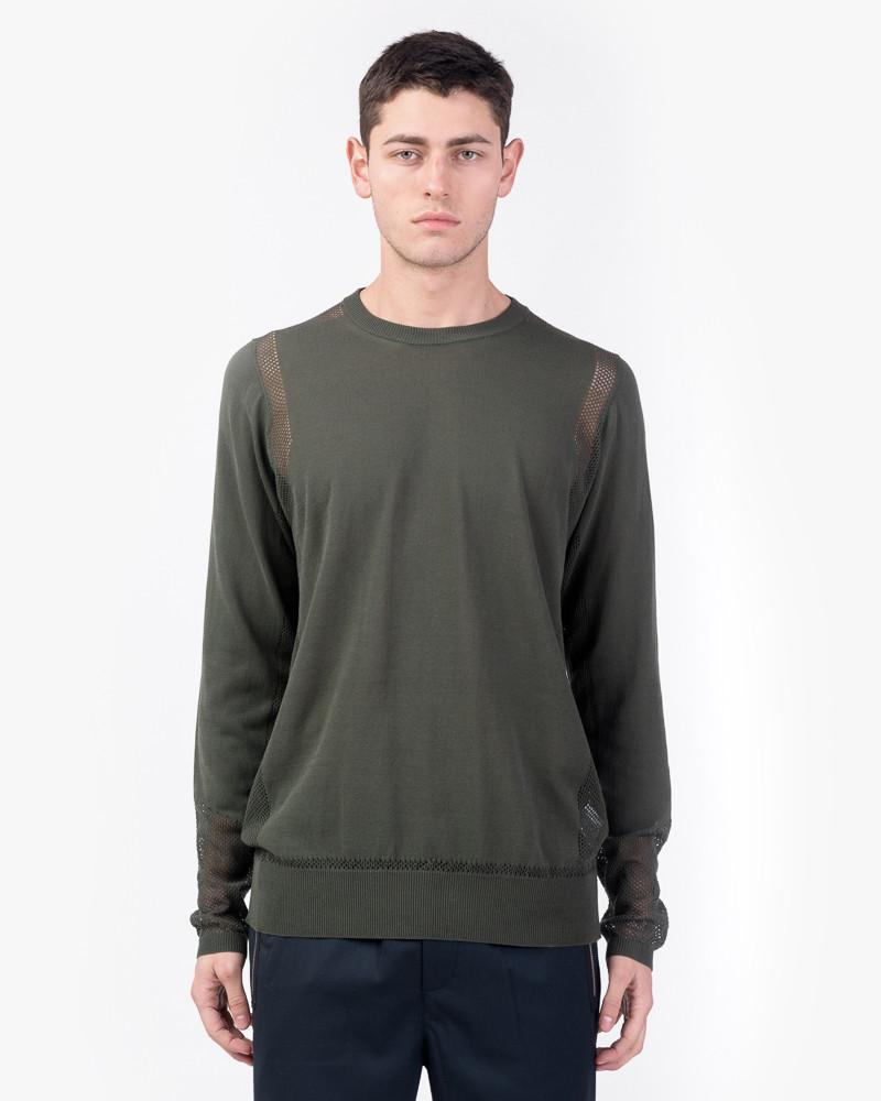 Mesh Crewneck in Green by OAMC at Mohawk General Store