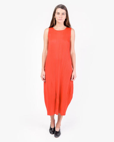Sleeveless Dress in Red by Issey Miyake Pleats Please at Mohawk General Store