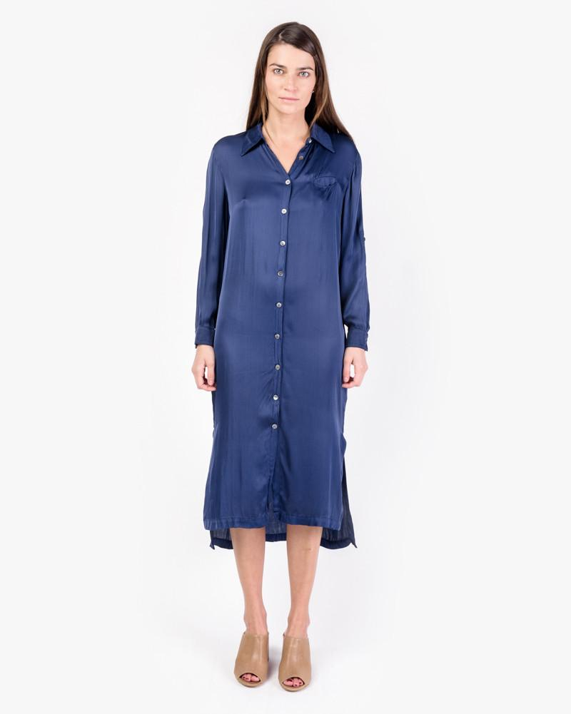Shirt Dress in Navy by Raquel Allegra at Mohawk General Store