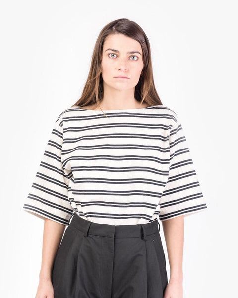 Dani Stripes in Ecru White/Navy by Acne Studios Woman at Mohawk General Store