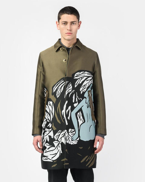 Pandaemonium Trench Coat in Silk Green by OAMC at Mohawk General Store