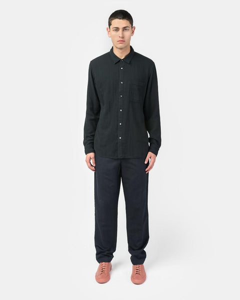 French Seam Double Gauze in Black by KATO by Hiroshi Kato at Mohawk General Store