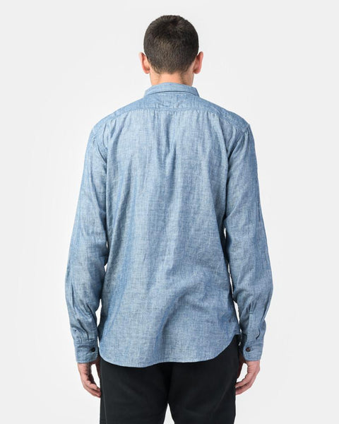 Casual Flap Chambray Double Gauze in Indigo by KATO by Hiroshi Kato at Mohawk General Store